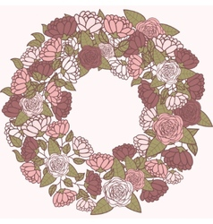 Romantic flower wreath wreath of roses vector image
