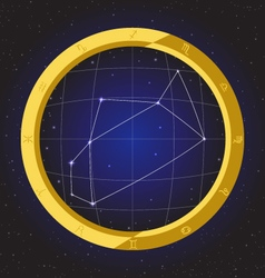 Sagittarius star horoscope zodiac in fish eye vector