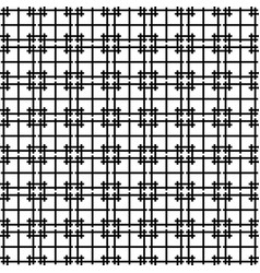 seamless abstract geometric pattern black color vector image
