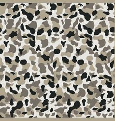 Seamless grey camouflage pattern khaki texture vector