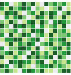Seamless pattern with green squares vector