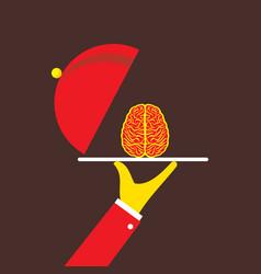 serving best genius brain vector image