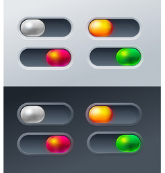 set 4 switches for mobile games applications vector image