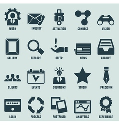Set marketing internet and service icons vector