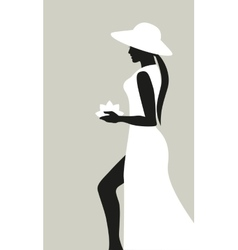 silhouette woman vector image