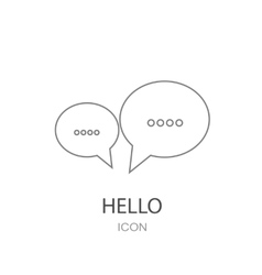 Speech bubbles chat icon Flat design style vector image