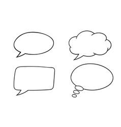speech bubbles outline icons set vector image