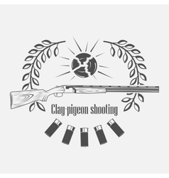 sporting clay Skeet vector image