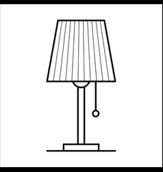 table lamp home furniture lineart design vector image