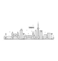Toronto skyline canada big city buildings vector