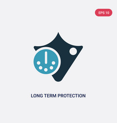Two color long term protection icon from vector