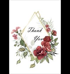 wedding floral invite vector image