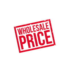 wholesale price rubber stamp vector image