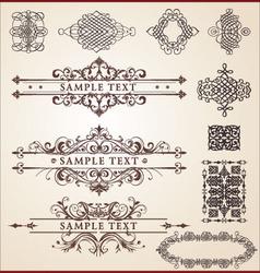 calligraphic design set vector image