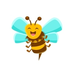 Laughing Bee Mid Air With Sting Natural Honey vector image