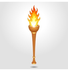 Olympic vintage torch vector image vector image
