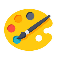 pallete icon vector image