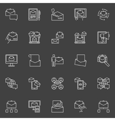 Email Marketing icons set vector image