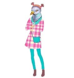 fashion animal anthropomorphic vector image vector image