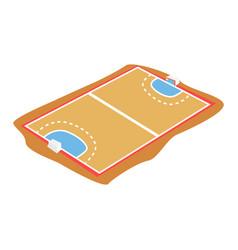 Handball court playground cartoon vector
