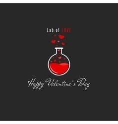 Happy Valentines Day greeting card typography vector image