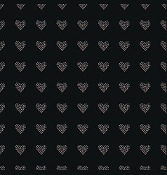 seamless heart pattern on dark hand drawn design vector image vector image