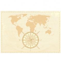 vintage word map vector image