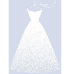 White bridal shower dress fashion vector image