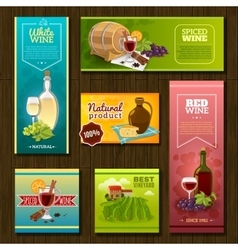 Wine Banners Set vector image vector image