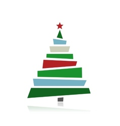 Abstract christmas trees for your design vector image