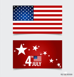 American Flag and note papers ready for your vector image vector image