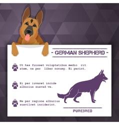 german shepherd dog banner vector image vector image