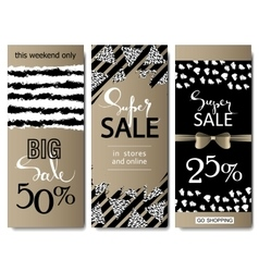 Set of social media sale website and mobile banner vector image vector image