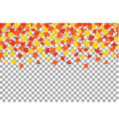 thanksgiving background witn orange autumn leaves vector image vector image