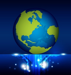 world technology vector image