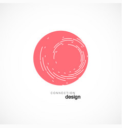 modern design with abstract twirl circle vector image vector image