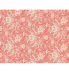 red floral textile seamless pattern in gzhel style vector image vector image