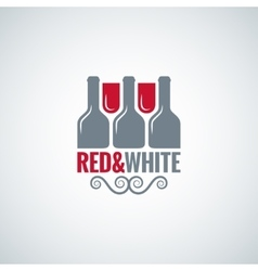 wine glass bottle design background vector image vector image