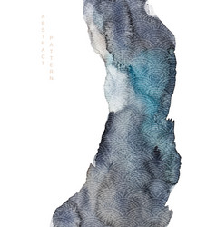 Abstract art with watercolor texture background vector