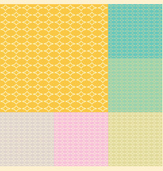 abstract shape seamless pattern vector image