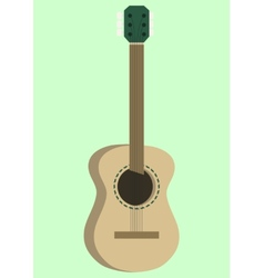 Acoustic guitar design vector