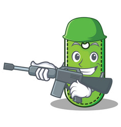 Army price tag character cartoon vector