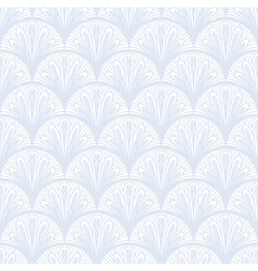 Art deco geometric pattern in silver white vector image