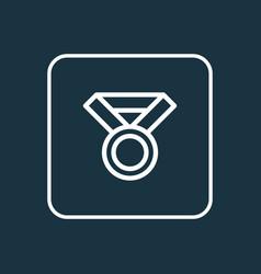award icon line symbol premium quality isolated vector image