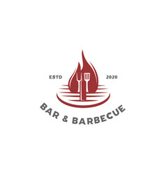 bar barbecue logo vector image