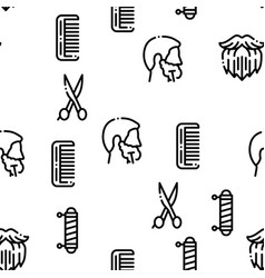 beard and mustache seamless pattern vector image