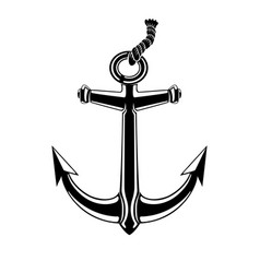 black anchor sign vector image