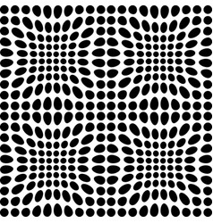 black and white dots vector image vector image