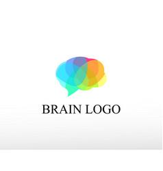 Brain logo creative brain logo color brain logo vector