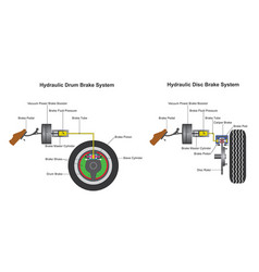 brake system infographic vector image